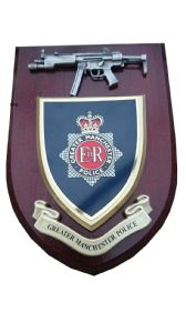Greater Manchester Police Service with Pewter MP5 Wall Plaque